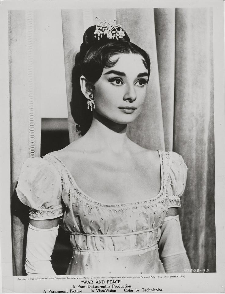 Audrey Hepburn, War and Peace, 1956 ~ ORIGINAL scene portrait
