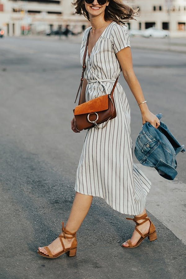 43b7fbd966 7 Tips for Wearing a Wrap Dress All Summer Long   Clothes I <3   Fashion,  Style, Ladies dress design
