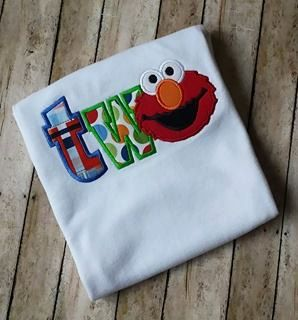 Elmo 2nd Birthday Shirt TWO Boys Custom