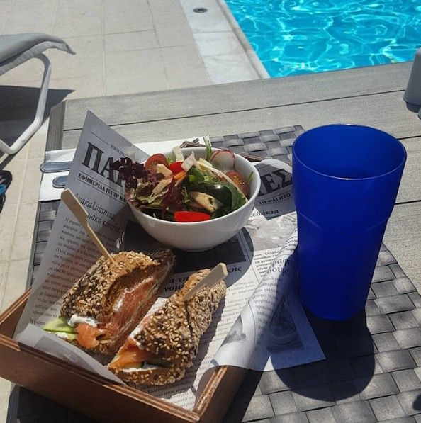 Light, healthy and totally delicious. A quick lunch is always exciting at Radisson Blu Park Hotel Athens... especially when you're enjoying it by the pool!  (photo credits: ludivine22ll/ Instagram)