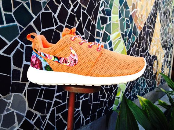 Nike Roshe Runs Custom Floral Roshe RunsTurf Orange by Artsysole45