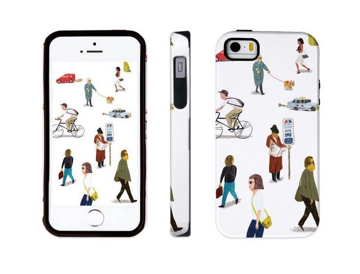 "iphone 5 5s illust designed case, ""city people"" made in korea, hardcase #astep"