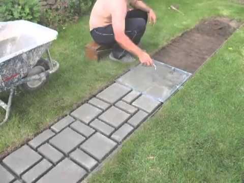 Pratik bahçe yolu yapımı