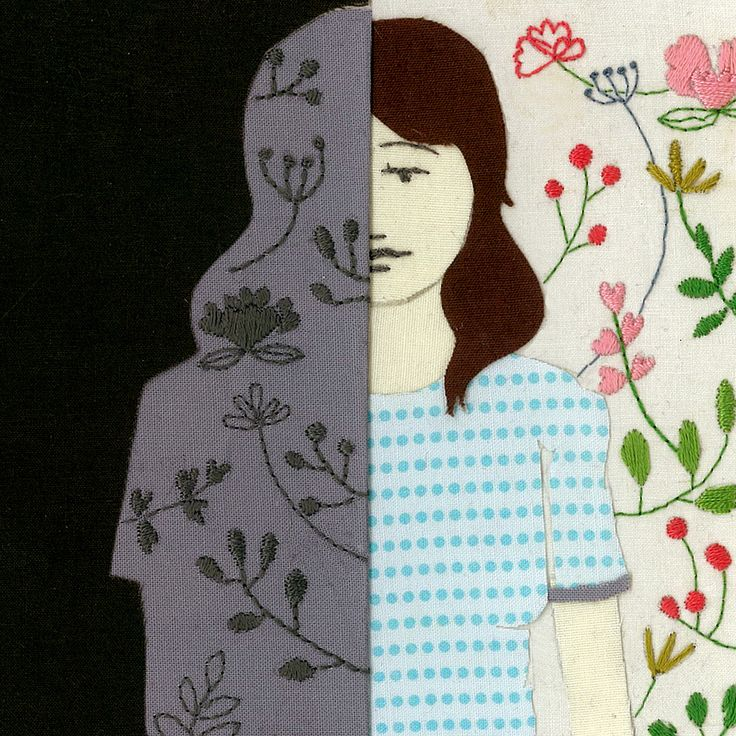 Embroidery and Drawings by Caroline Hwang