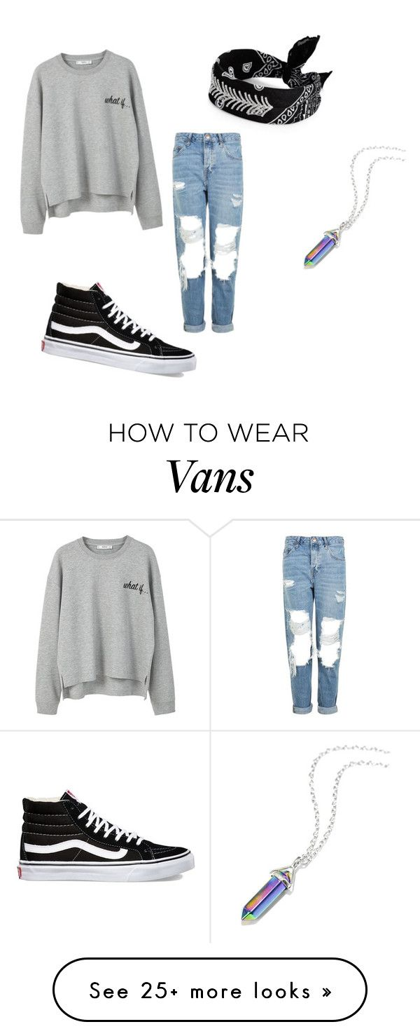 """""""lazy day"""" by jasmineskye2 on Polyvore featuring MANGO, Topshop, Fallon and Vans"""