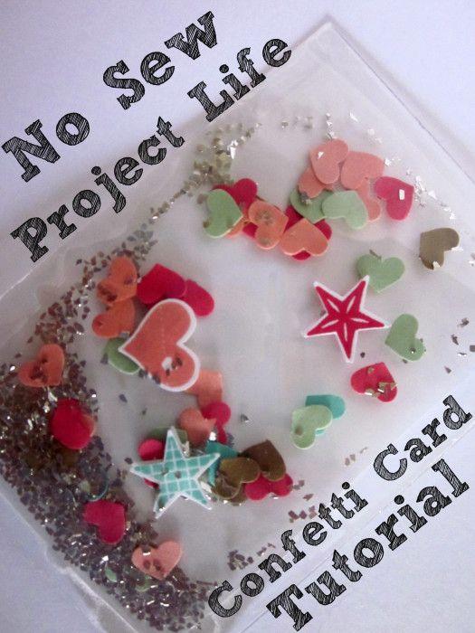 No Sew Project Life Confetti Card Tutorial - Amy Williams