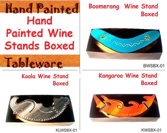 Australian Aboriginal Art Wine Stand Boxed by AboriginalOzArt
