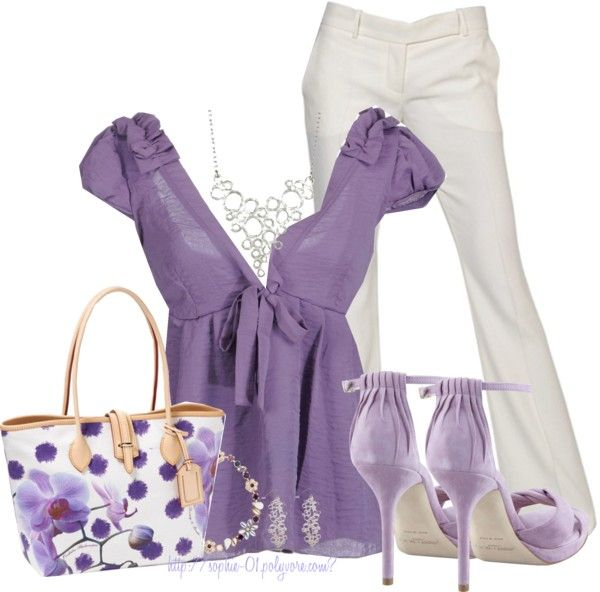 """""""Bubbly Purple + Jimmy Choo"""" by sophie-01 on Polyvore"""
