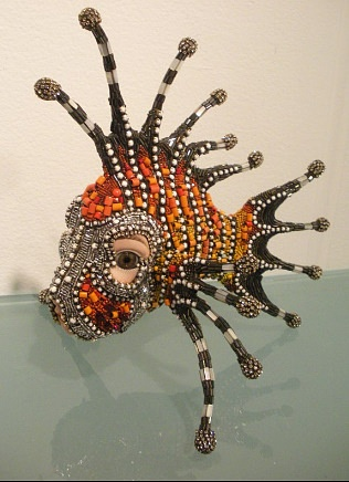 Bead Sculpture Betsy Youngquist  -- Something like this would make a great mask!