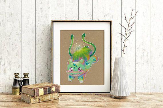 Bulbasaur Art Signed Print Pokemon Art Pokemon Geek Art