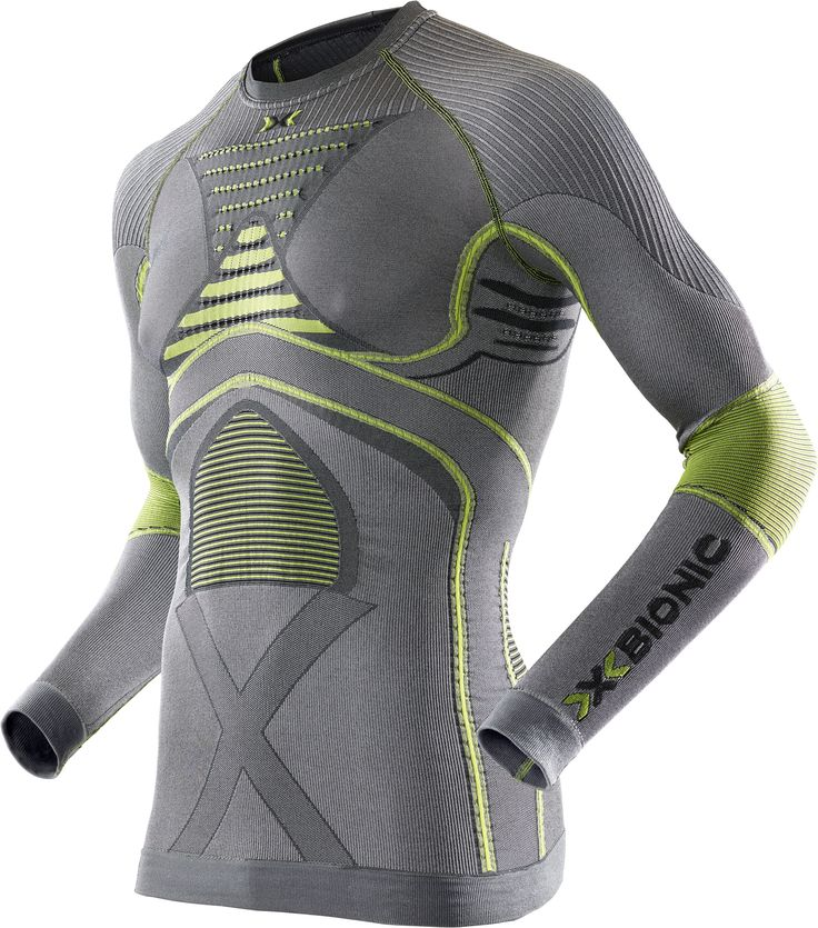 Radiactor Evo Tee Men Iron/Yellow X-Bionic : Hauts de Sous Vêtements Techniques : Snowleader