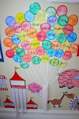 Love the idea of the sight word balloons - have students read only specific colors to practice fluency!