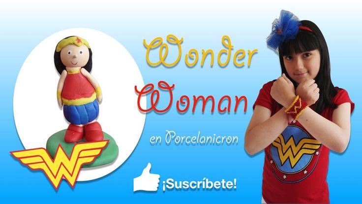 Wonder Woman en porcelanicrón o plastilina. Tutorial para niños