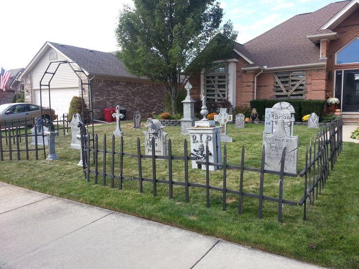 Cemetery Fence Halloween Prop