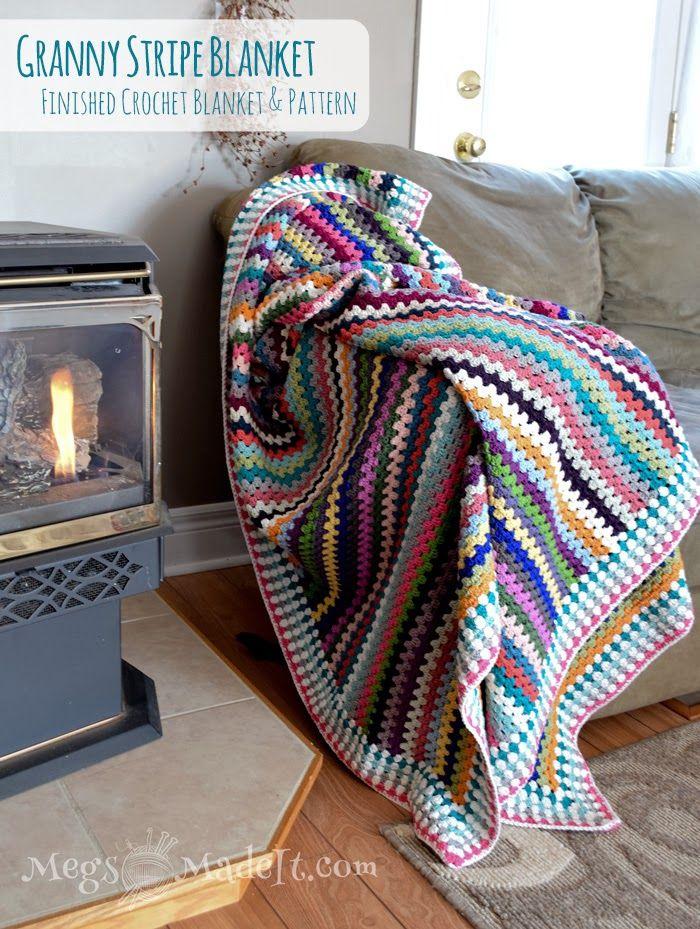MegsMadeIt: Granny Stripe Blanket with Pattern