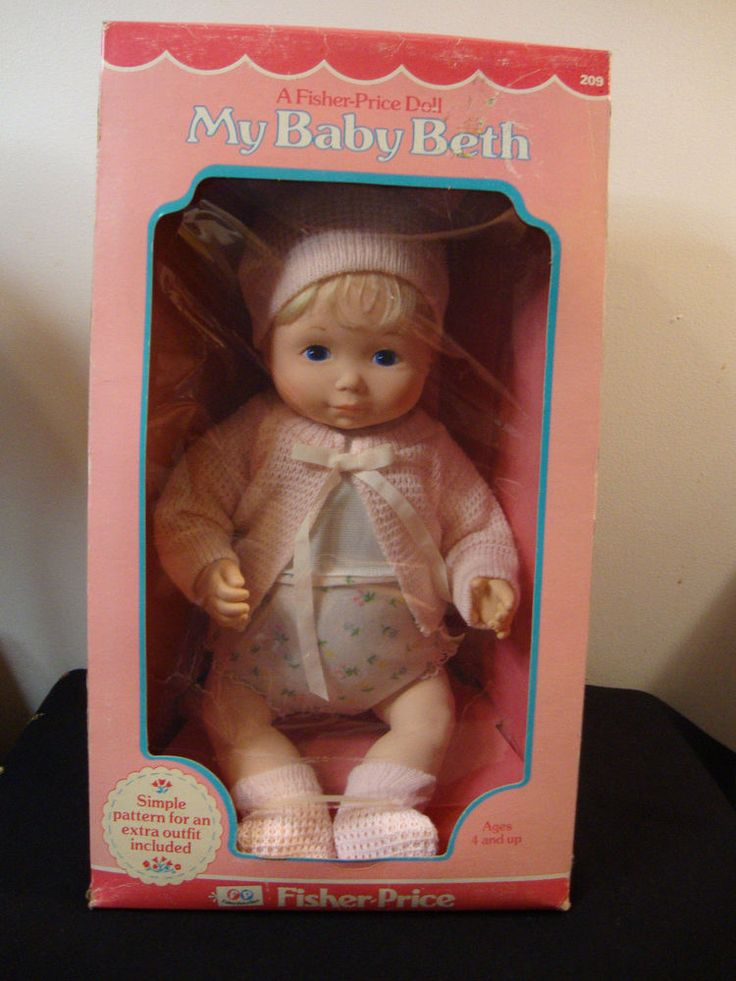 RARE Fisher Price My Baby Beth Doll 1977 In Box | Babies, Fisher price and Dolls