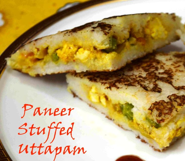 Paneer Stuffed Uttapam SouthIndian Uttapam with Punjabi tadka ‪#‎stufffed‬ ‪#‎paneer‬ ‪#‎Uttapam‬ ‪#‎Indianfood‬ ‪#‎breakfast‬ ‪#‎healthy‬ ‪#‎paneerbhurji‬ ‪#‎sandwichwithoutbread‬ ‪#‎delicious‬ ‪#‎yummy‬ Recipe at: www.annapurnaz.in