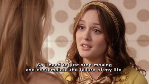 então eu preciso apenas parar de se mover e contemplar o fracasso da minha vida.