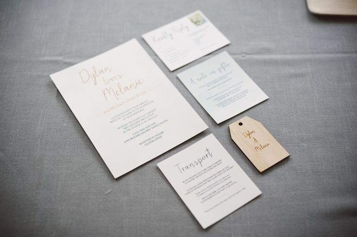 Dylan loves Melanie // Wedding invitation by Two of a Kind Events. Photo by The White Tree.