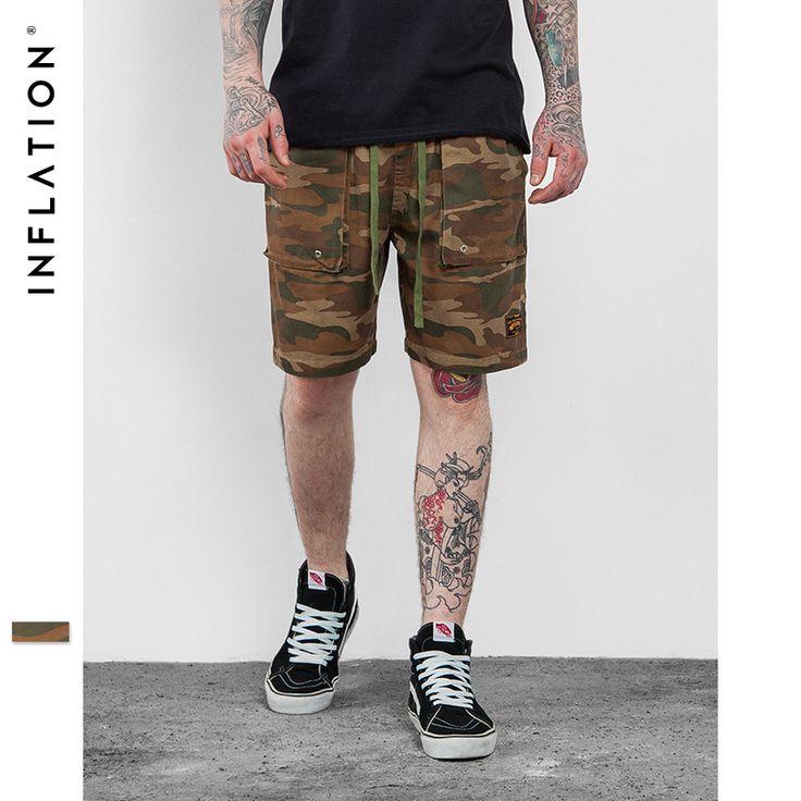 Men's Hip Hop Camo Shorts Men High Street Fashion Camouflage Shorts Cargo Casual Camouflage Summer Short Pants