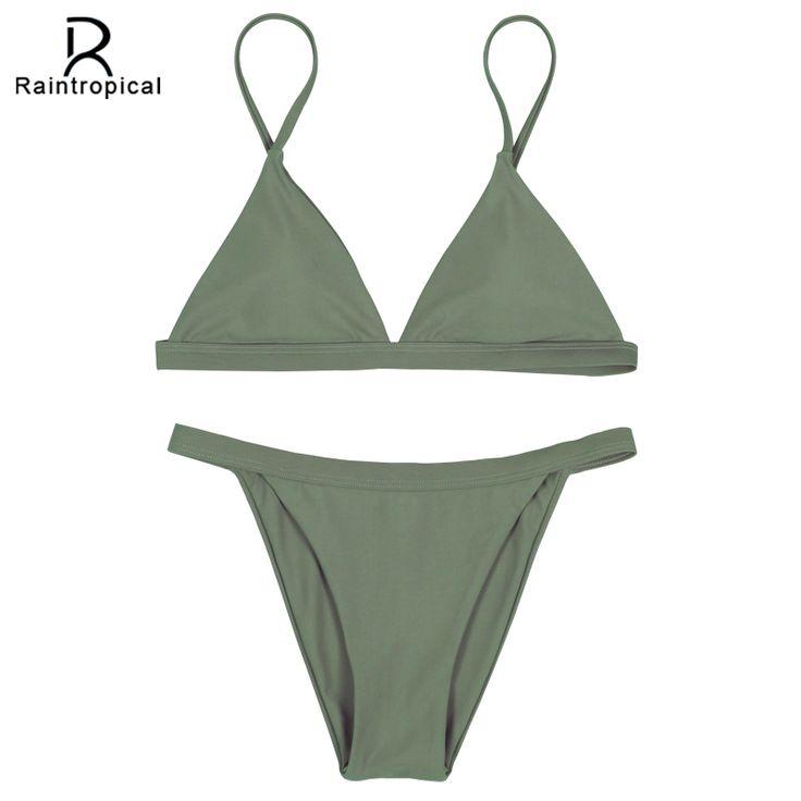 Raintropical 2016 NEW Mini Sexy Micro Bikinis Women Swimsuit Swimwear Brazilian Bikini Set Beach Bathing Suits Swim Wear Biquini