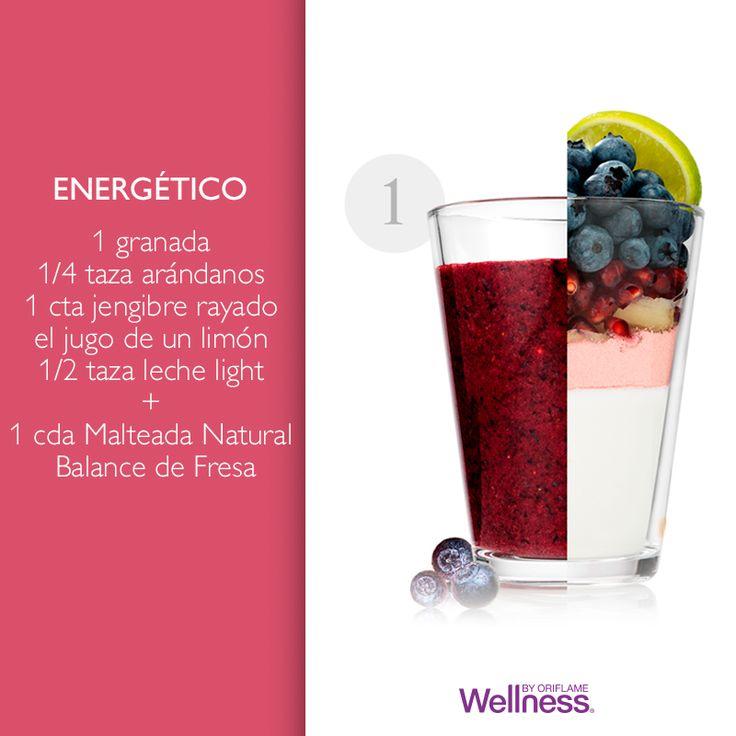 Este smoothie te proporcionará la energía necesaria para tu mañana. ¿Sabías que cada desayuno Wellness es alto en #proteínas, #fibra y #carbohidratos? Esta mezcla mágica te hará sentir satisfecho durante más tiempo, ¡y sabe delicioso!