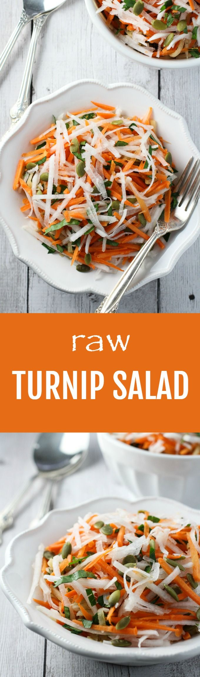 A very easy to prepare Raw Turnip Salad Recipe. Just grate the vegetables, add the dressing and combine everything in a salad bowl. Full of fiber and healthy nutrients.