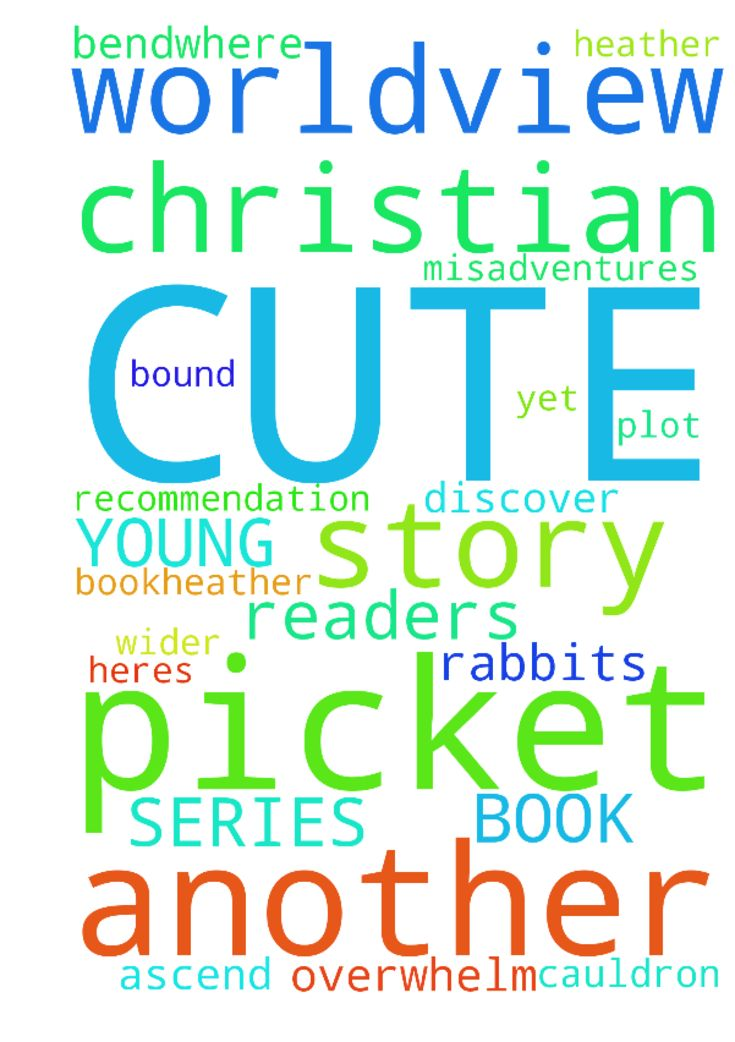 CUTE BOOK SERIES WITH CHRISTIAN WORLDVIEW FOR YOUNG READERS -  Heres another book recommendation post for today on another series for young readers. It offers an adventure story with cute characters, yet has a sort of Christian worldview. Its called The Green Ember Plot of first bookHeather and Picket are extraordinary rabbits with ordinary lives until calamitous events overtake them, spilling them into a cauldron of misadventures. They discover that their own story is bound up in the tumult…