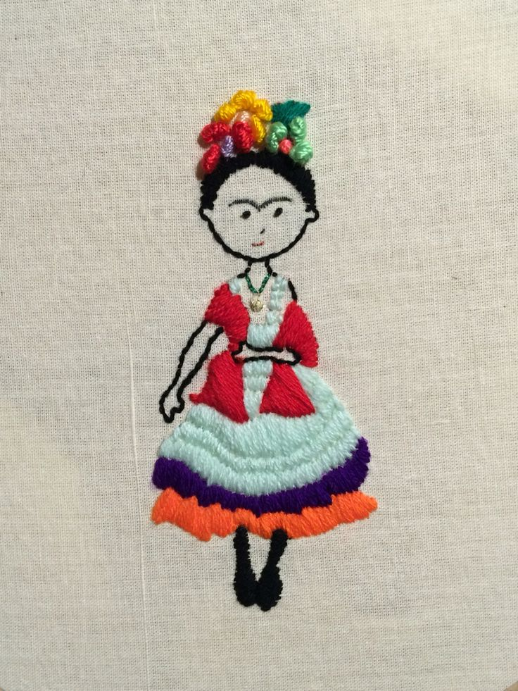 Frida Kahlo bordado mexicano
