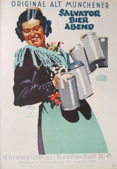Salvator Bier Abend poster by Hohlwein Ludwig