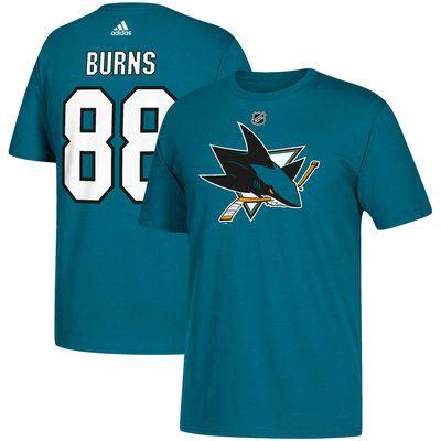 Men s San Jose Sharks Brent Burns adidas Teal Name   Number T-Shirt ... 73782b14a