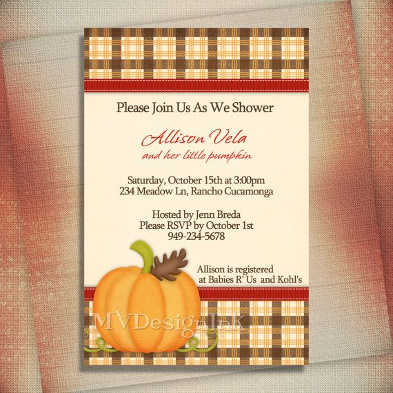 Fall Baby Shower Invitation, Thanksgiving Dinner Invitation, Fall Birthday Invitation, Little Pumpkin Shower Invite-Digital File You Print. $13.00, via Etsy.