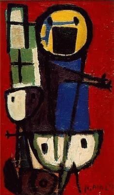 Karel Appel, Vragende kinderen, 1949. Amsterdam, Stedelijk Museum