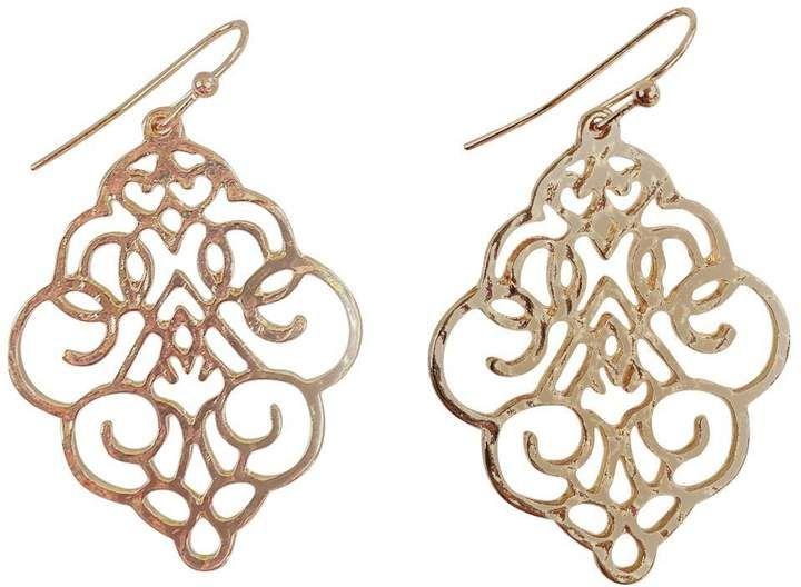 Ghome2 Gold Die-Cut Earrings