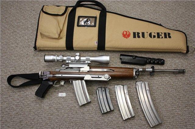 Ruger Mini 14 Pre Ban Folding Stock Ss Rifle Set