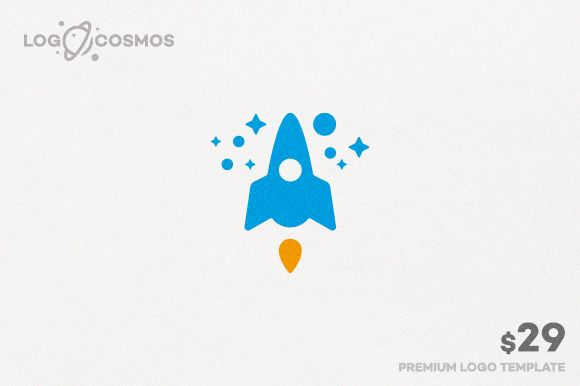 Spacecraft & Rocket Logo by Logo Cosmos on Creative Market