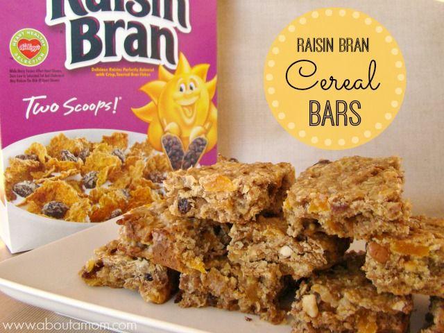 Kellogg's Raisin Bran Cereal Bars Recipe