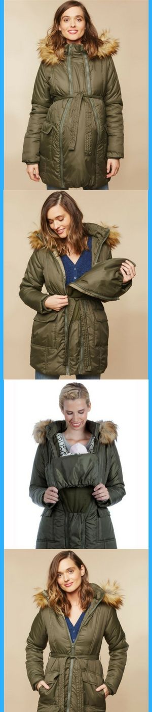 Stay Warm Before, During And After Baby With This Cozy Puffer Coat! This Cute Maternity Jacket Includes A Third Piece That Expands, Giving You Extra Room During Pregnancy. Once Baby Is Here, The Third Piece Can Be Flipped Over To Fit Your Little Bundle Of Joy Along With Their Carrier, And Then Removed For Your Post-pregnancy Body. #maternity #maternityCoat #giftsForNewMoms #pregnancy #newBaby #stylishCoat #ad