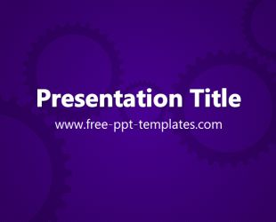 Gears PowerPoint Template is a purple template with appropriate background image of gears which you can use to make an elegant and professional PPT presentation. This FREE PowerPoint template is perfect for all kinds of business presentations.