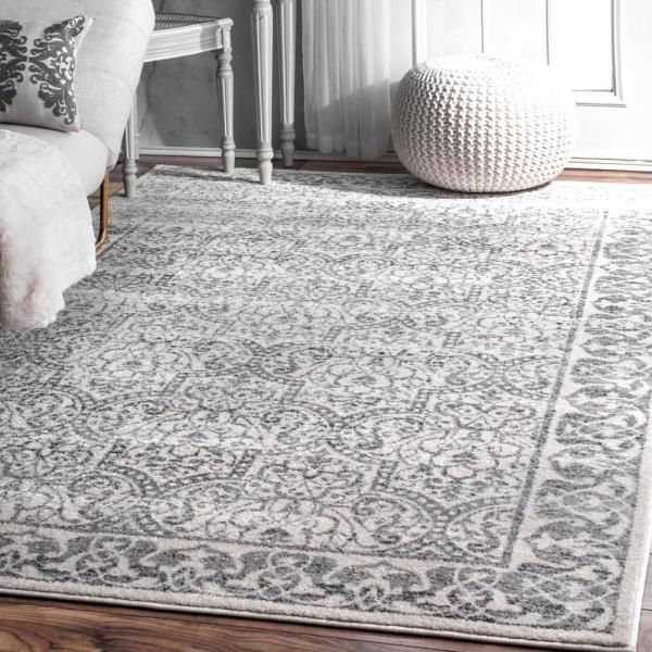 Nuloom Amaral Trellis Gray 8 Ft X 12 Ft Area Rug Bdmn03a 820116 The Home Depot In 2020 Area Rugs Area Rugs For Sale Rugs In Living Room