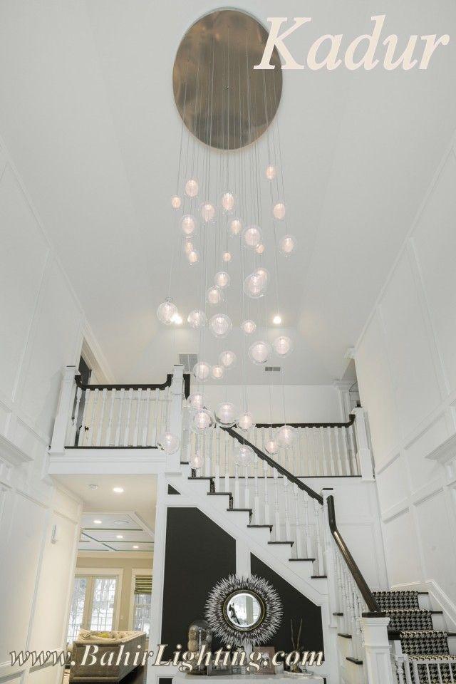 Bahiru0027s Kadur Chandelier; Artisan Made, Blown Glass Custom Designed Lighting.  Drizzled Glass Threads