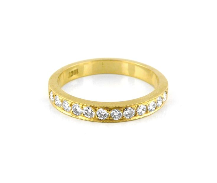 A Classic 18ct Yellow Gold and Diamond Pave Eternity Ring