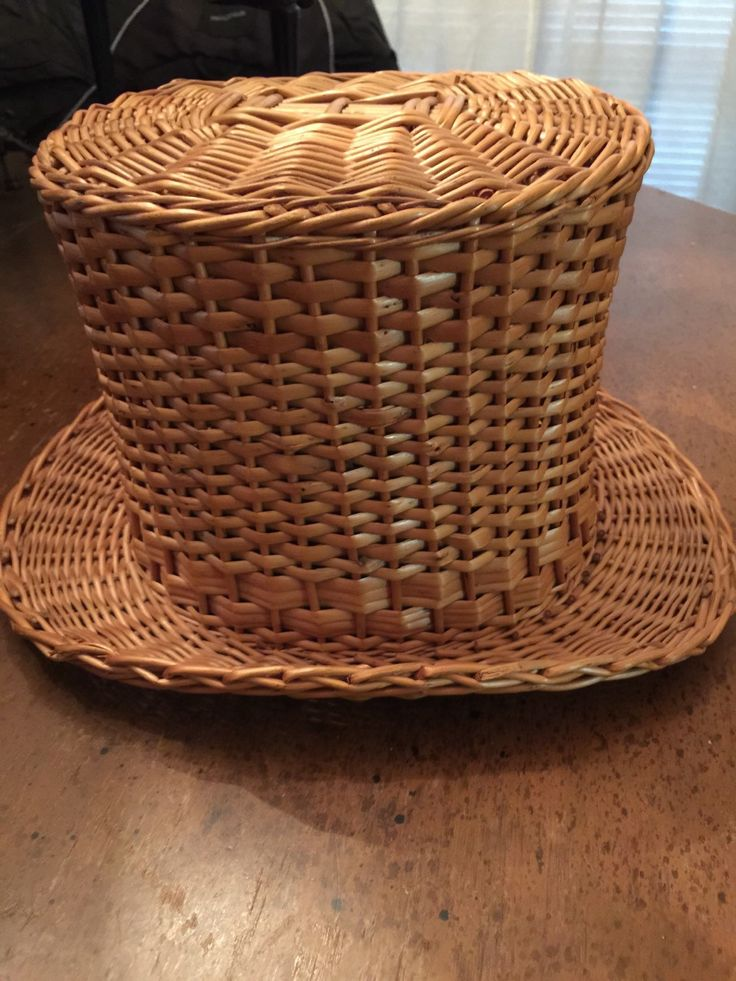 Amazing Antique Top Hat Victorian Rare Wicker by EdgarandEdgar on Etsy https://www.etsy.com/listing/237519832/amazing-antique-top-hat-victorian-rare