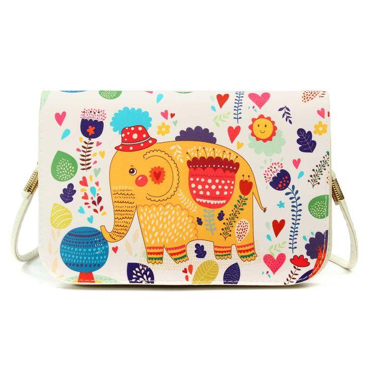 2016 женщин печатных мультфильм шаблон засов леди посланник искусственная кожа небольшой старинный телефон сумка корейский национальный стиль купить на AliExpress