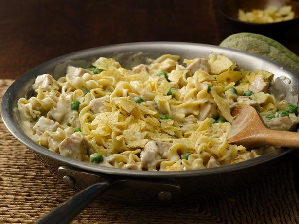 """Gotta love one-pan cooking! All the ingredients, including the noodles, cook in the same skillet to create creamy, """"noodley"""" turkey goodness!"""