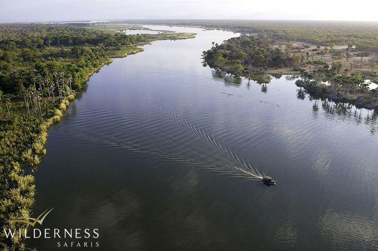 Mvuu Camp overlooks a broad stretch of the Shire River in Malawi's Liwonde National Park. #Africa #safari