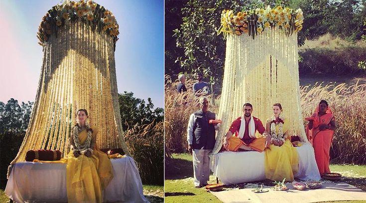 Lee Elton and Arunoday Singh | Celebrity Wedding | weddingsutra.com