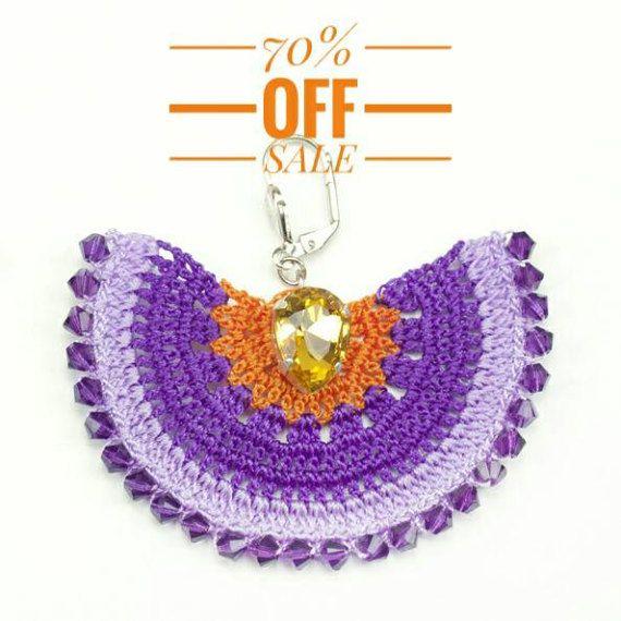 70% OFF Earrings-Bohemian Crochet Statement Earrings Beadwork