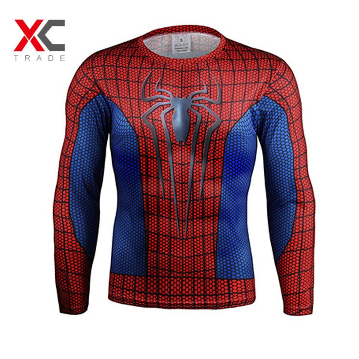 2016 Batman Spiderman Ironman Superman Captain America Avengers Costume Superhero Soldier Marvel Comics Mens Style Long T shirt //Price: $US $6.14 & FREE Shipping //     #fashion