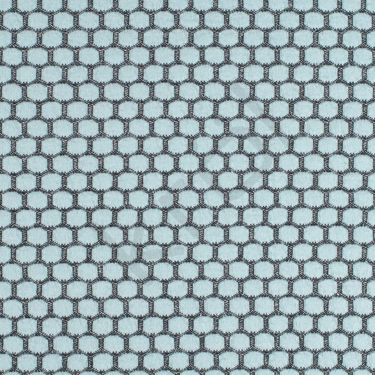 Jaquard jersey, antracit med mint dots